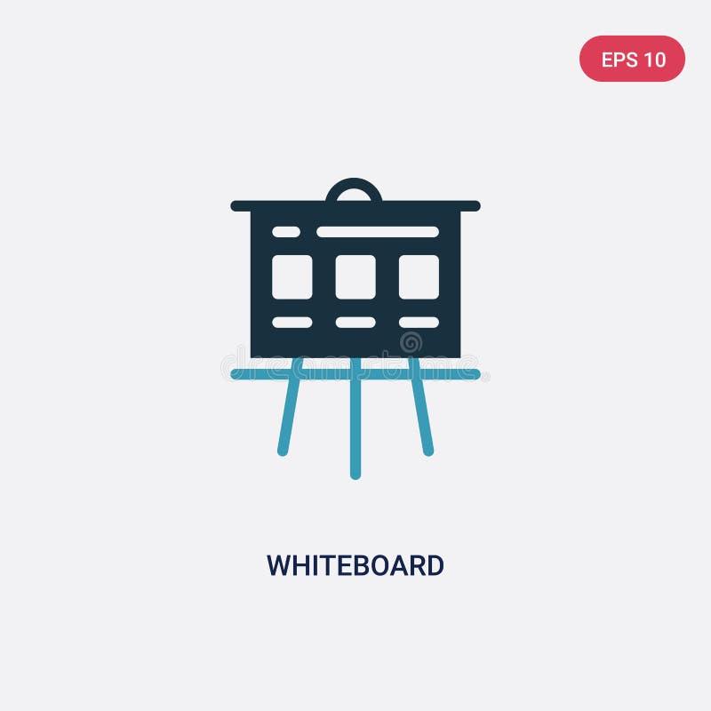 Dwa kolorów whiteboard wektorowa ikona od seo & sieci pojęcia odosobniony błękitny whiteboard wektoru znaka symbol może być używa royalty ilustracja