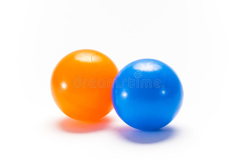 Dwa kolor piłki od klingerytu fotografia royalty free