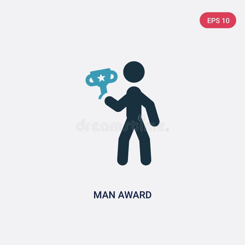 Dwa koloru mężczyzny nagrody wektorowa ikona od sporta pojęcia odosobniony błękitny mężczyzna nagrody wektoru znaka symbol może b ilustracja wektor