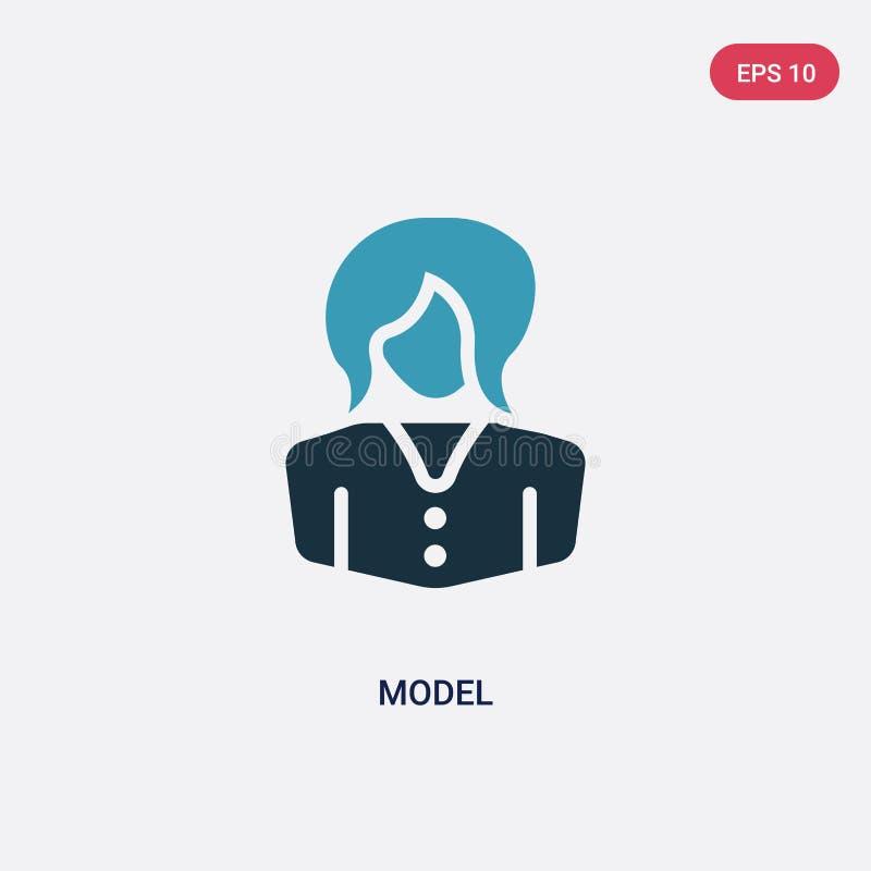 Dwa koloru modela wektorowa ikona od zawodów & pracy pojęcia odosobniony błękita modela wektoru znaka symbol może być używa dla s ilustracja wektor