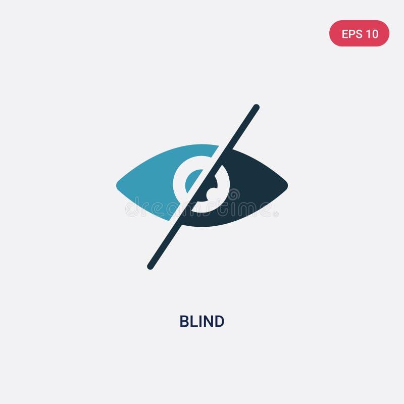 Dwa koloru niewidoma wektorowa ikona od mądrze domowego pojęcia odosobniony błękitny niewidomy wektoru znaka symbol może być używ royalty ilustracja