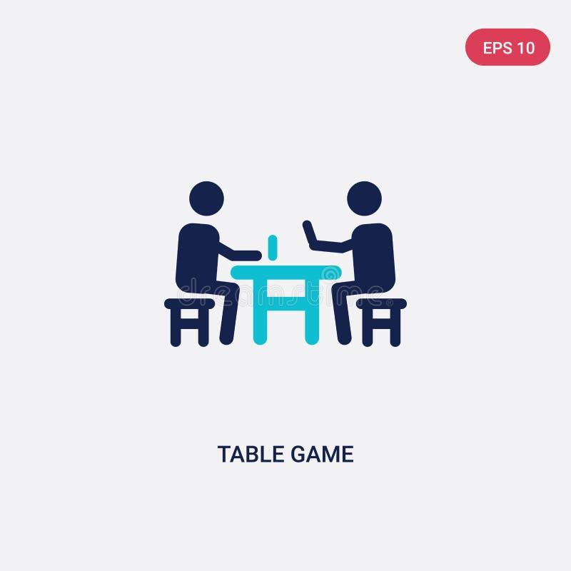 dwa koloru stołowej gry wektorowa ikona od plenerowych aktywność pojęcia odosobniony błękitny stołowej gry wektoru znaka symbol m ilustracji