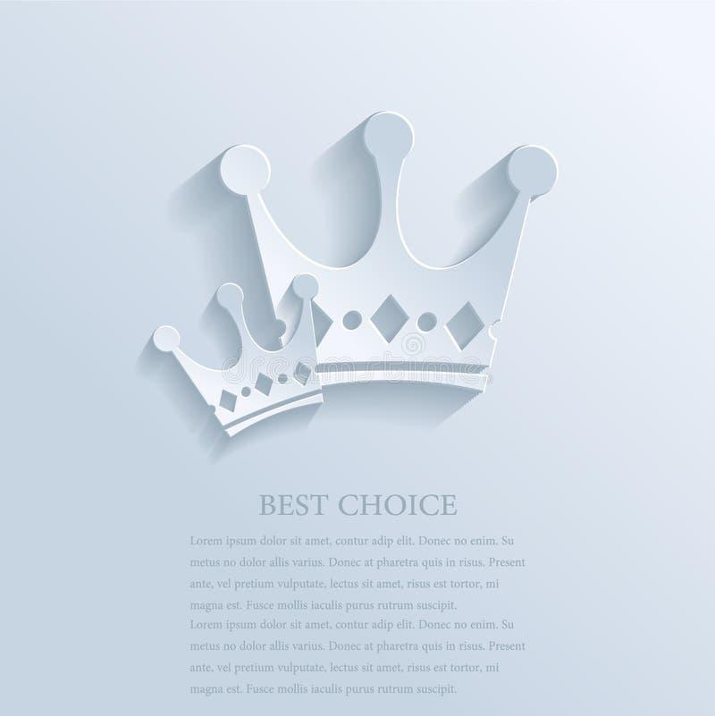Dwa korony royalty ilustracja