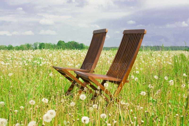dwa krzesła zdjęcie stock
