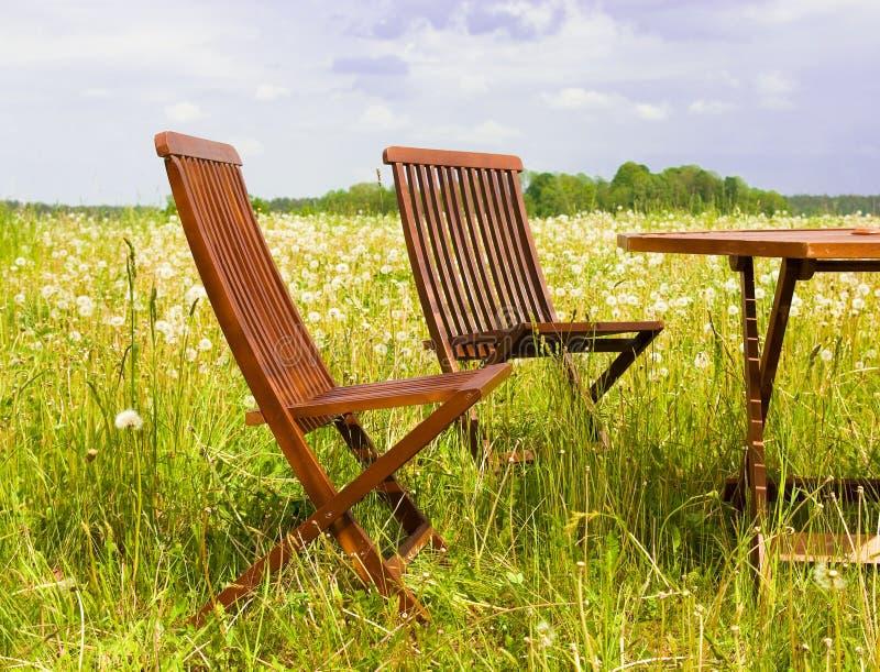 dwa krzesła fotografia stock