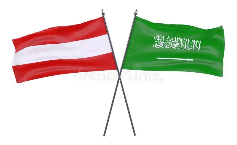 Dwa krzyżującej flaga ilustracji