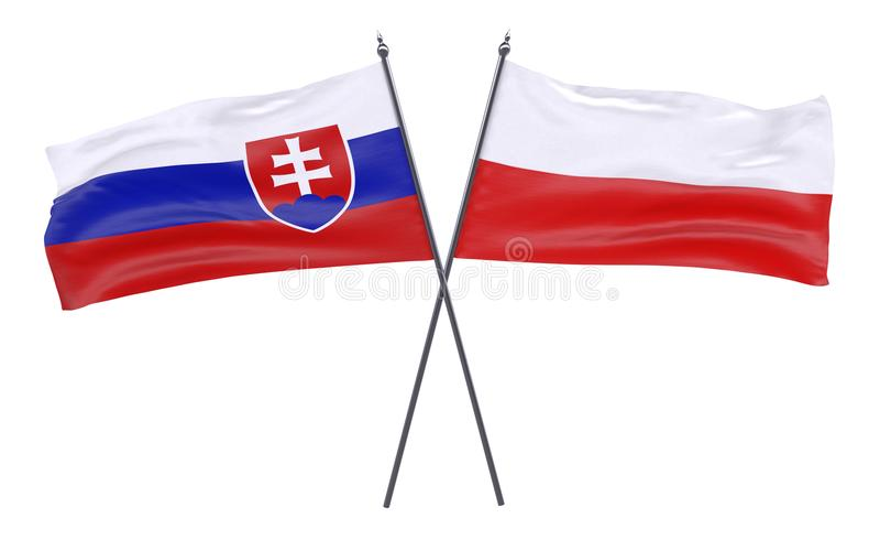Dwa krzyżującej flaga zdjęcia stock