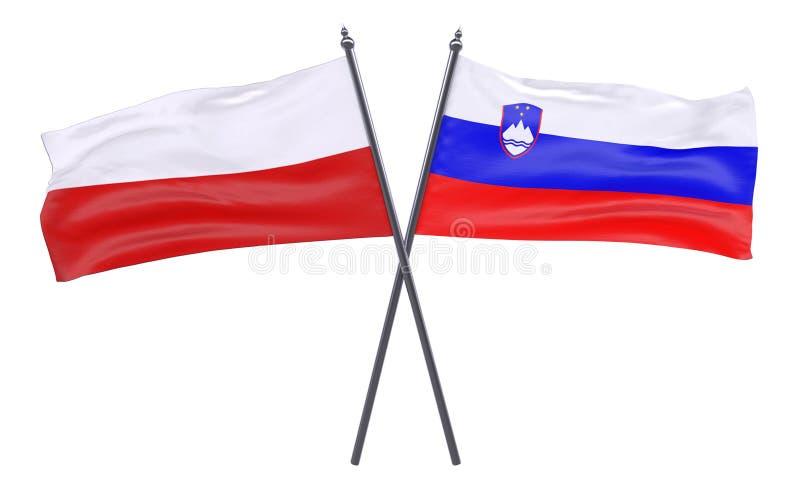 Dwa krzyżującej flaga obrazy stock