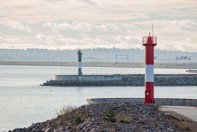 Dwa latarni morskiej zdjęcia stock