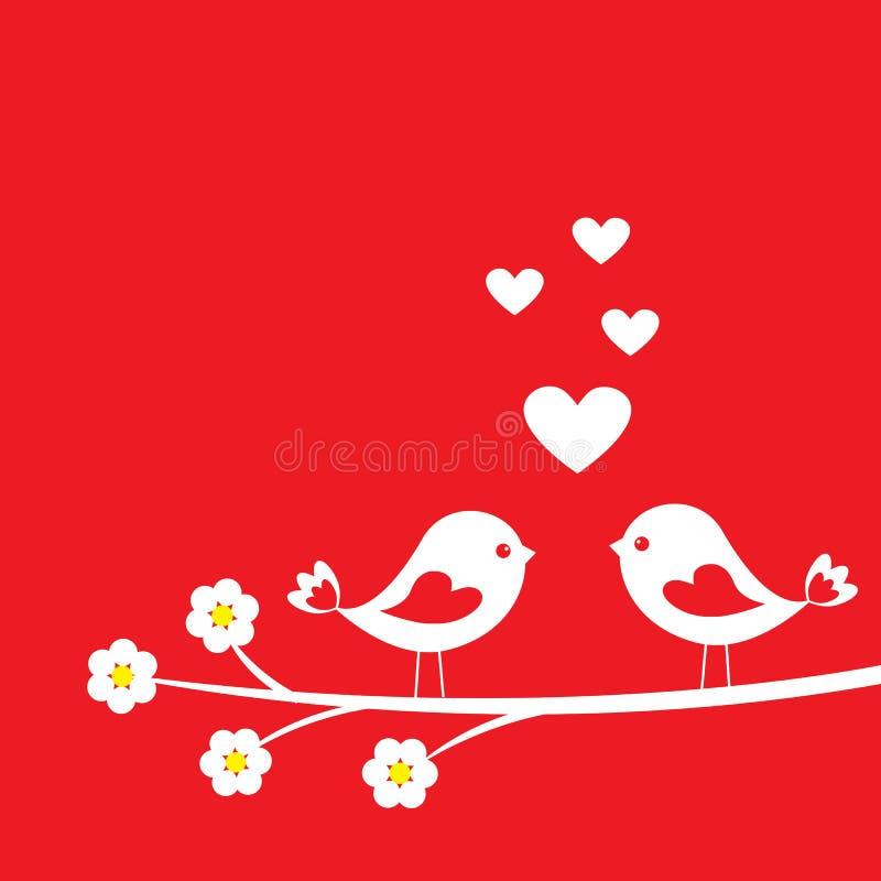 Download Dwa ślicznego ptaka ilustracja wektor. Ilustracja złożonej z tło - 28968077