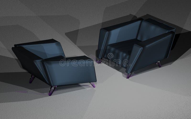 Dwa loft krzesła zdjęcia royalty free