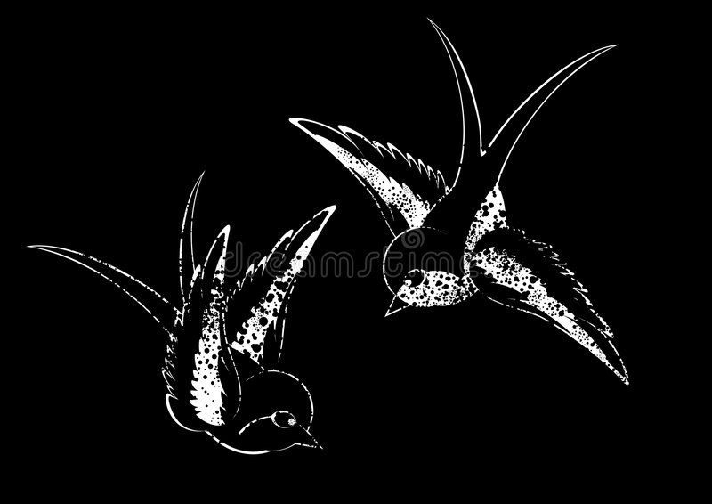 dwa lotu ptaka ilustracji