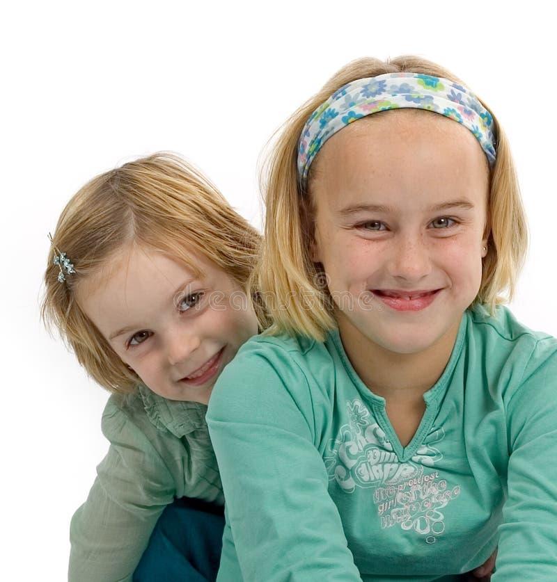 dwa młode dziewczyny zdjęcia royalty free
