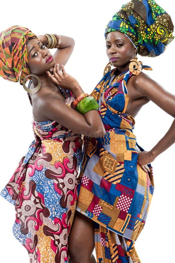 Dwa młodego Afrykańskiego moda modela. zdjęcia royalty free