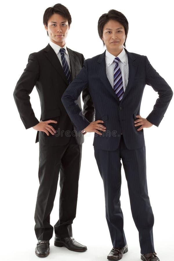 Dwa młodego biznesmena obrazy stock