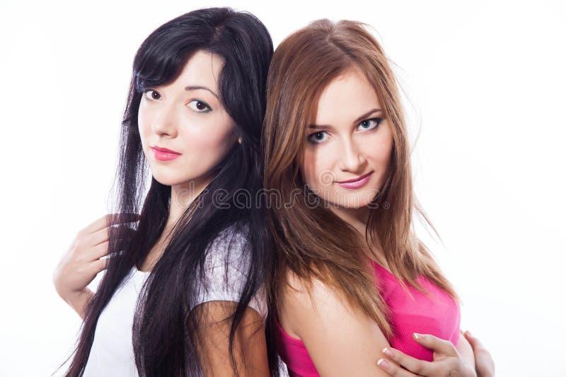 Dwa młodej dziewczyny. obraz royalty free