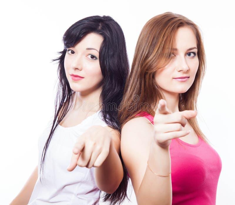 Dwa młodej dziewczyny. fotografia stock