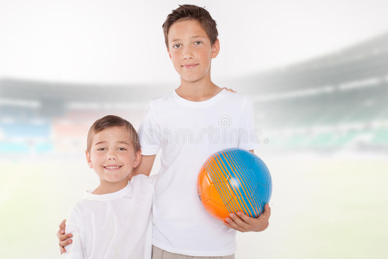 Dwa młodszego brata zdjęcie stock