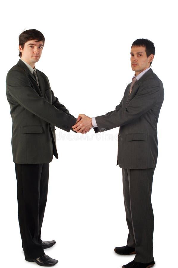 Dwa młodych człowieków uścisk dłoni