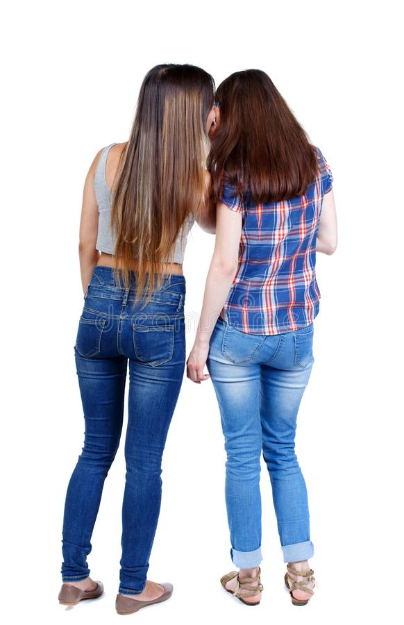 Dwa młodych kobiet przyjaciela babiarstwo zdjęcia stock