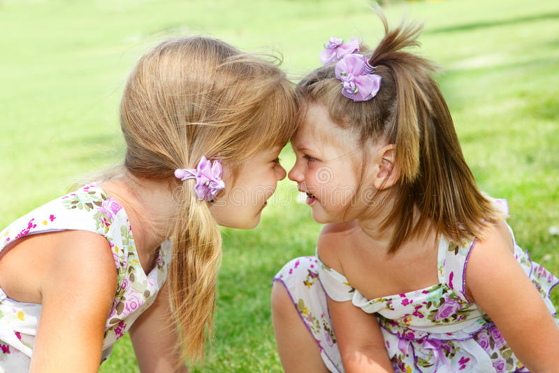 Małe siostry obraz royalty free