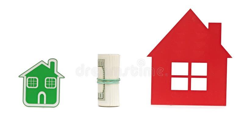Dwa mały dom fotografia stock