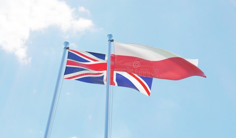 Dwa machają flaga royalty ilustracja