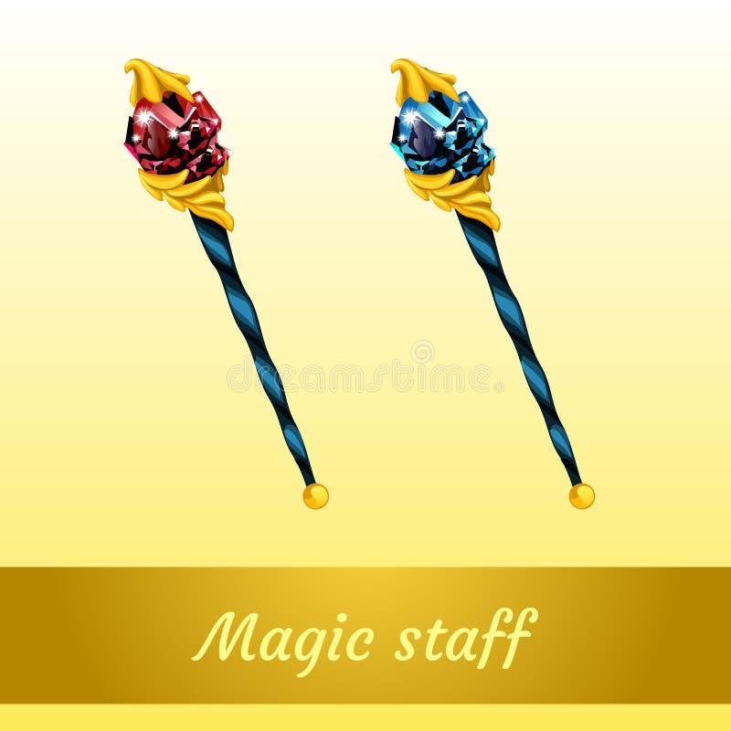 Dwa magiczny artefakt czarownik ilustracja wektor