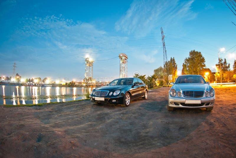 Dwa Mercedez klasa w211 zdjęcie stock