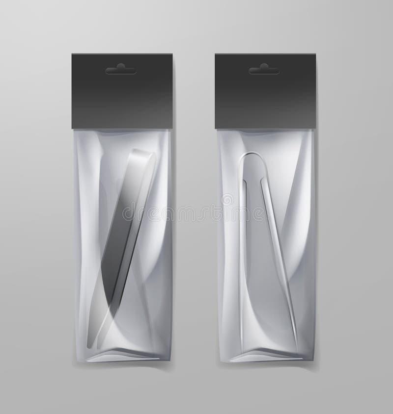 Dwa nargile tongs ilustracji