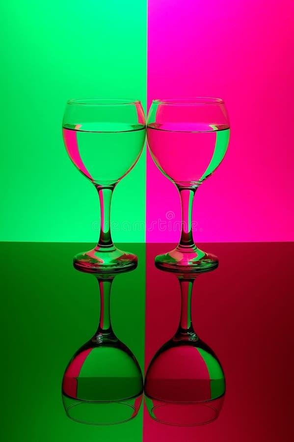 dwa neonowi tło okulary fotografia stock