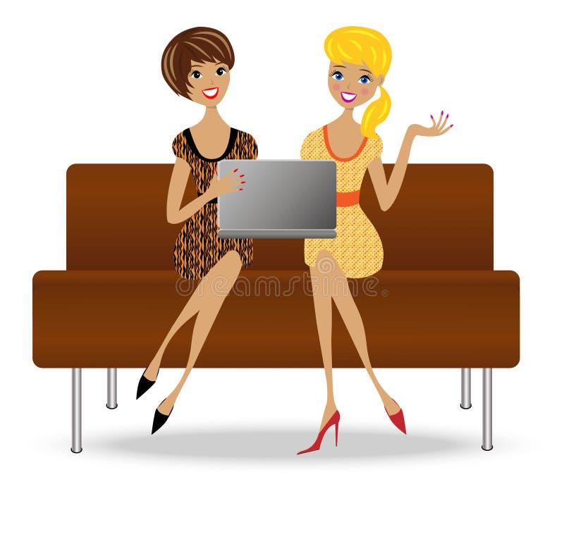 Dwa nikła biznesowa kobieta z notatnikiem ilustracji