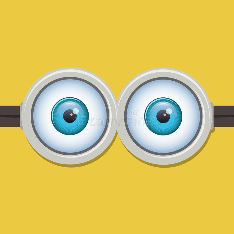 Dwa oko gogle lub szkła również zwrócić corel ilustracji wektora ilustracja wektor