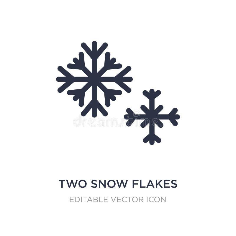 dwa płatków śnieżna ikona na białym tle Prosta element ilustracja od kształta pojęcia ilustracja wektor