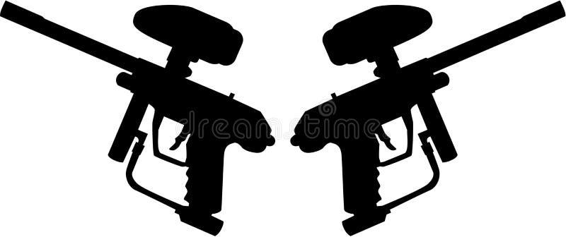 Dwa Paintball pistoletu ilustracji
