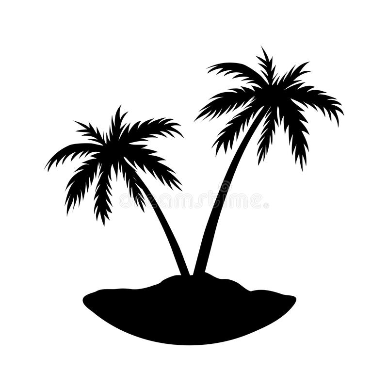 Dwa palm wyspa royalty ilustracja