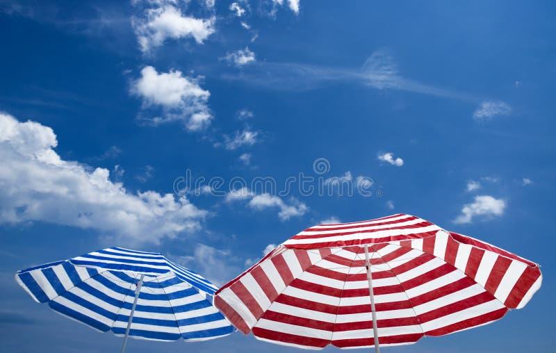 dwa parasol zdjęcie stock