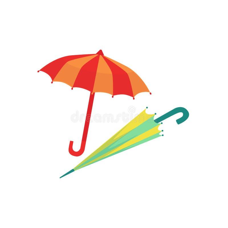 Dwa parasola Jako jesień atrybut ilustracja wektor