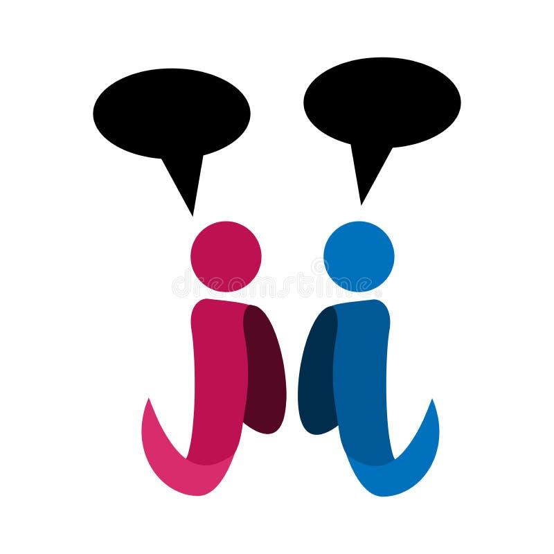 Dwa persons mają dyskusję i gawędzą wektorową ilustrację ilustracja wektor