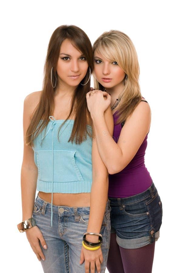Dwa pięknej młodej kobiety fotografia royalty free