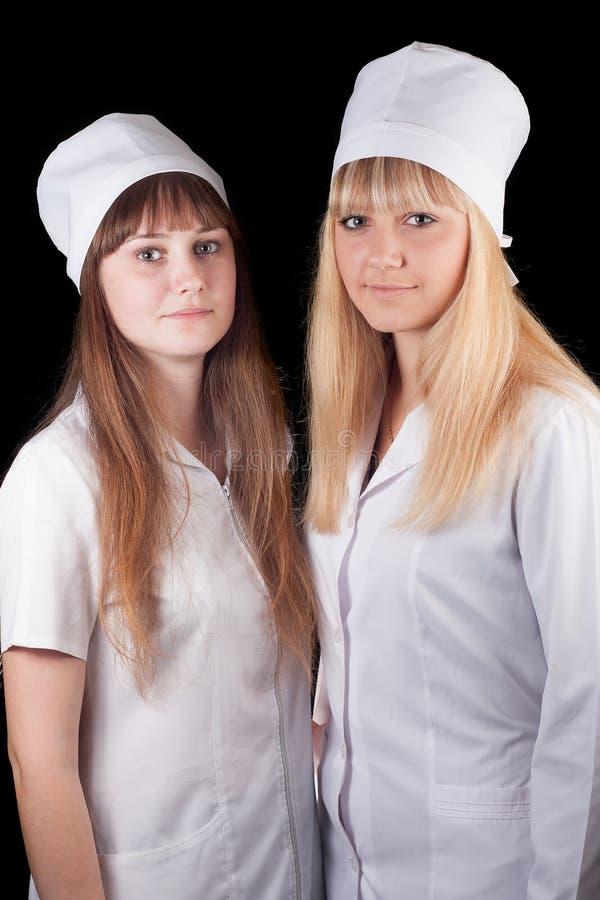 Dwa pielęgniarki zdjęcie royalty free