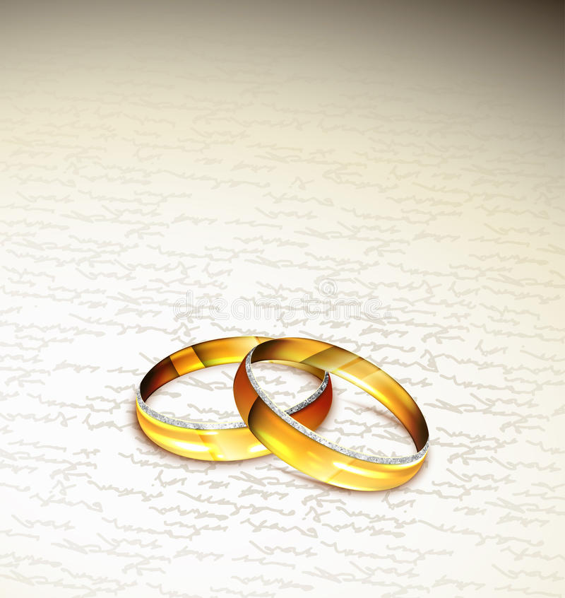 Download Dwa pierścionku ilustracja wektor. Obraz złożonej z ceremonia - 27367911