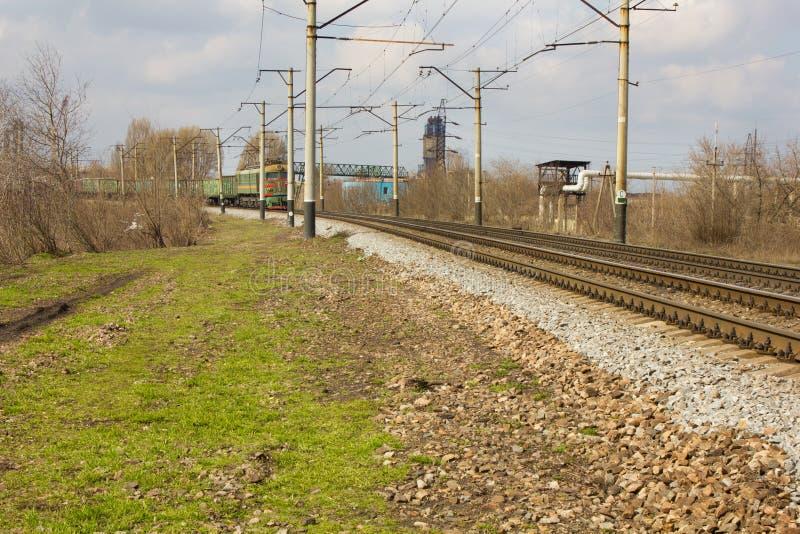 Dwa pociągu w kierunku each inny obrazy royalty free