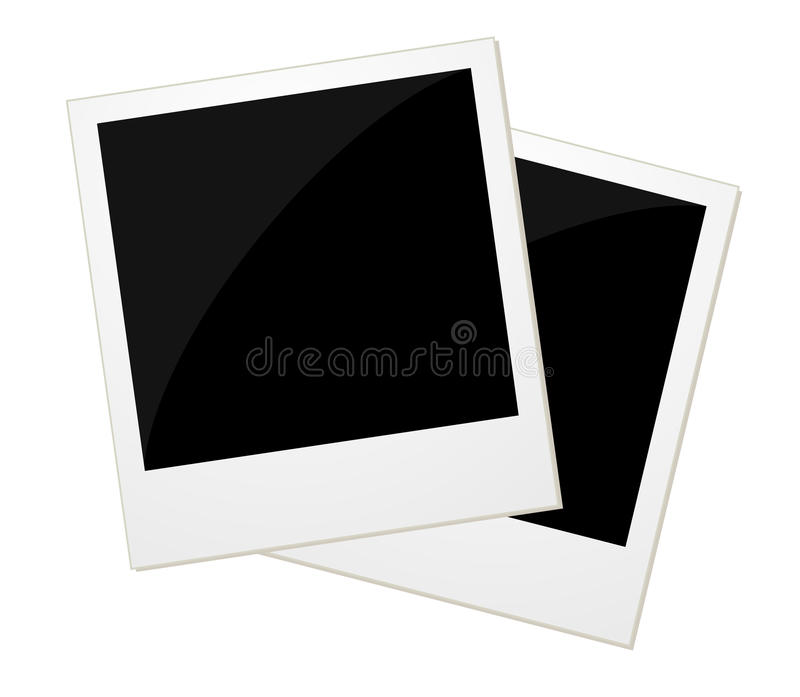 Dwa polaroid fotografii royalty ilustracja