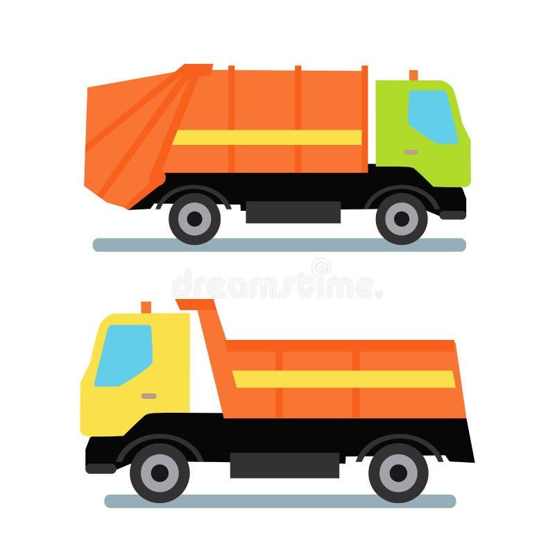 Dwa pomarańcz ciężarówka ilustracja wektor