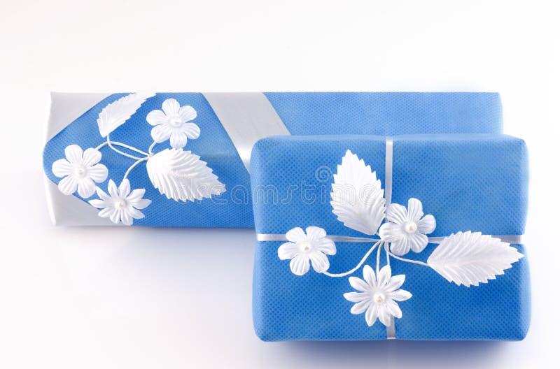 dwa prezenty pudła obrazy royalty free