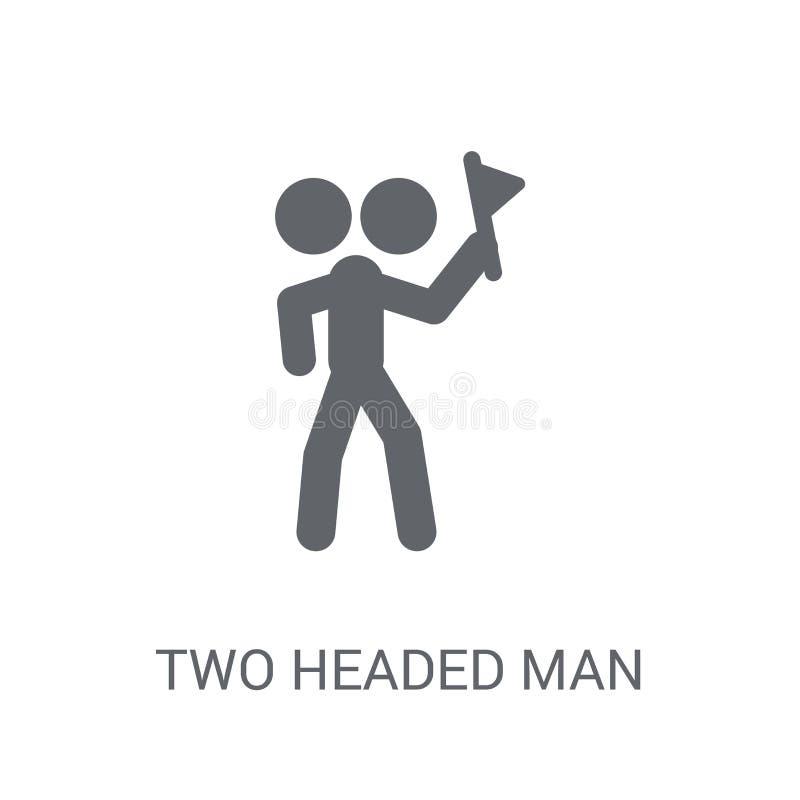Dwa przewodząca mężczyzna ikona  ilustracja wektor