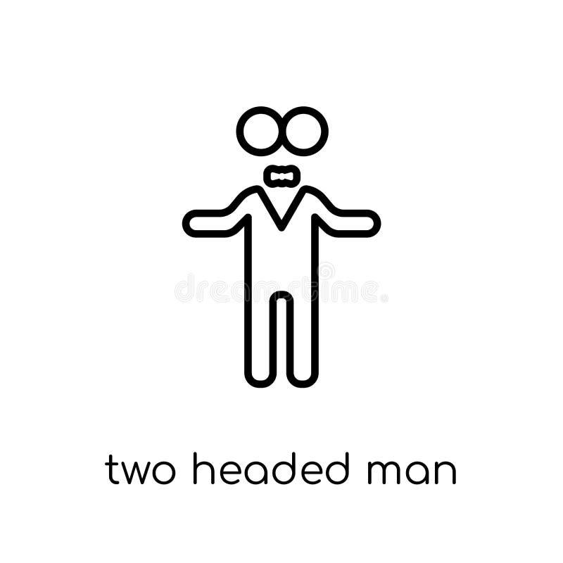 Dwa przewodząca mężczyzna ikona od Cyrkowej kolekcji royalty ilustracja