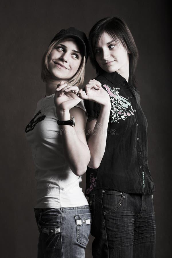 Dwa przyjaciół portret zdjęcia royalty free