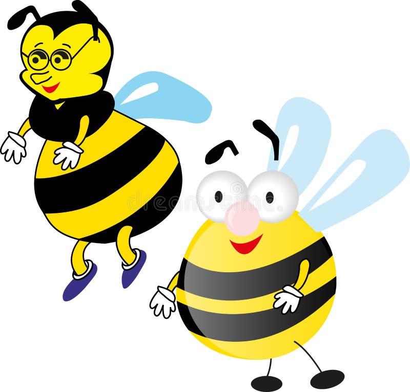 dwa pszczół zdjęcia royalty free